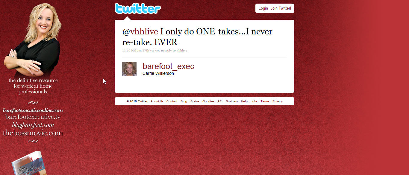 Follow barefoot_exec on Twitter