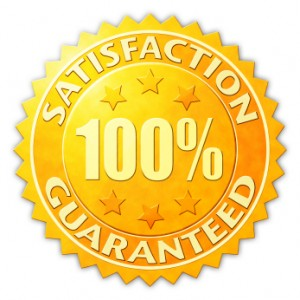 Satisfaction Guaranteed Badge - Virtual Hired Hand