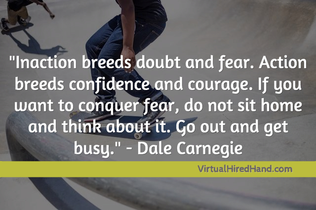 Action breeds confidence- 1st Blab!