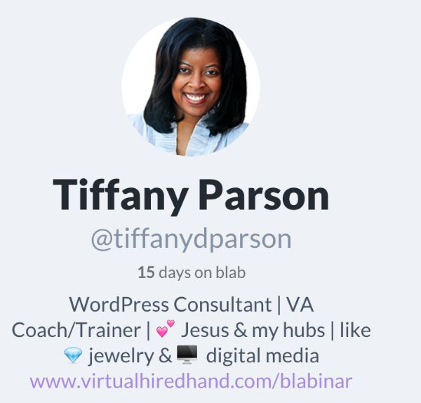 Blab 15Days Tiffany Parson